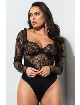 Cant Get Enough Sexy Lace Bodysuit by Akira
