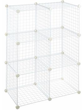 Amazon Basics 6 Cube Wire Storage Shelves   White by Amazon
