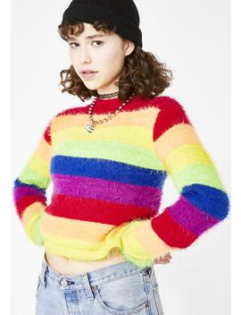 Dream In Color Fuzzy Sweater by Current Mood