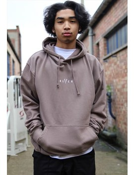 New In   Mocha Brown Logo Hoodie by Blvck Clothing
