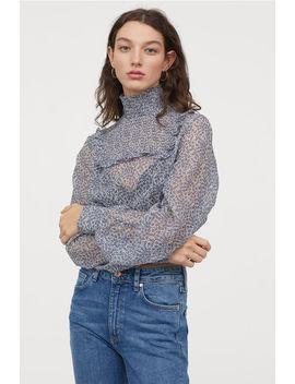 Bluzka Z Marszczeniem by H&M