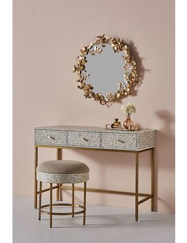 Scroll Vine Inlay Vanity Table by Anthropologie
