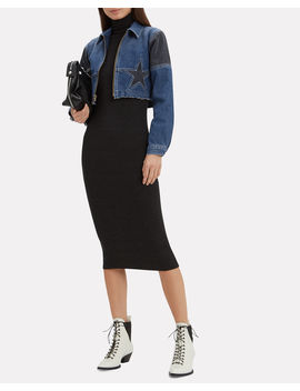 Toni Cropped Denim Jacket by Jean Atelier