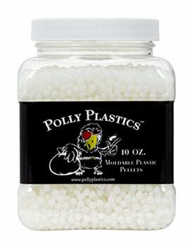 Polly Plastics Moldable Plastic Pellets | Great For Cosplayers And Hobbyists | Perfect For Cosplay Accessories, And Crafts | 10 Oz. Ez Grip Jar And Bonus Idea Booklet by Polly Plastics
