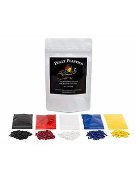 Polly Plastics Color Pellets For Moldable Plastic. Blue, Red, Yellow, Black, White. Color Chart Included. by Polly Plastics