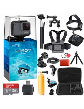Go Pro Hero 7 (Silver) Action Camera + 38 Piece Accessory Kit by K&M