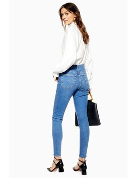 Mid Blue Button Fly Jamie Jeans by Topshop