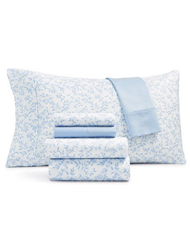 Norvara 500 Thread Count 6 Pc. Printed Queen Sheet Set by Sunham