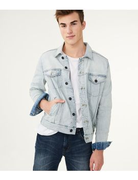 Bleach Wash Denim Jacket by Aeropostale