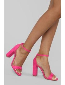 You And I Heeled Sandals   Fuchsia by Fashion Nova