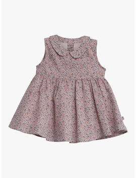 Wheat Baby Eila Floral Flared Dress, Pink Powder by Wheat
