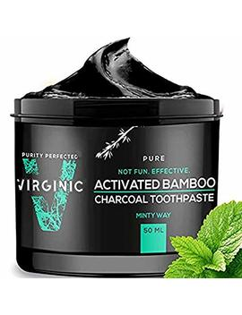 Activated Black Charcoal Toothpaste Whitening For Teeth Toothbrush Tooth Beauty Makeup Products by Virginic