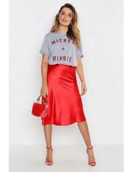 Disney Slogan Minnie + Mickey T Shirt by Boohoo