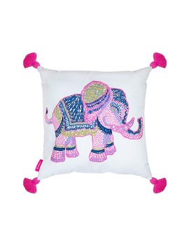 "Elephant Indoor/Outdoor Pillow   18""X18"" by Lilly Pulitzer"