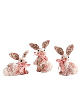 Pink Velvet Bunnies by Pier1 Imports