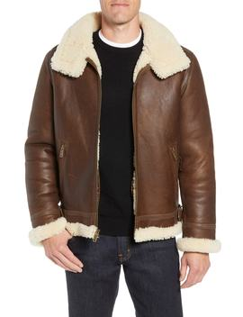 Auden Genuine Shearling Aviator Jacket by Ugg®