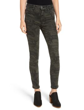 Ellie Camo Print High Waist Skinny Jeans by Sts Blue