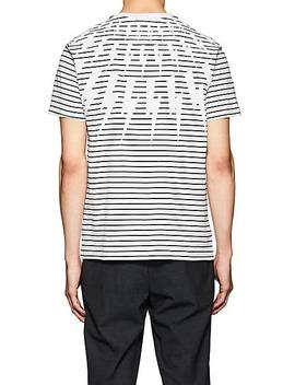 Lightning Bolt Print Cotton T Shirt by Neil Barrett