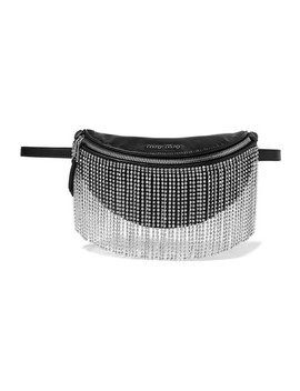 London Night Crystal Embellished Matelassé Leather Belt Bag by Miu Miu