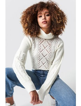 Pattern Knitted Short Sweater by Na Kd