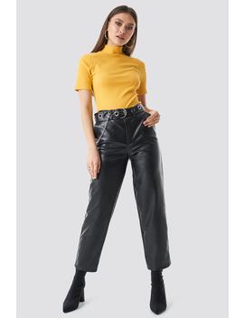 Pu Leather Belted Pants by Chloé B X Na Kd