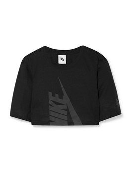 Nike Lab Cropped Printed Cotton Blend Jersey Top by Nike