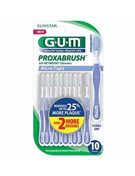 Gum Proxabrush Go Betweens Cleaners, Moderate Size (6 X 10 Count) 60 Brushes by Sunstar