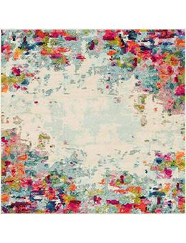 Unique Loom Chromatic Collection Modern Abstract Colorful Multi Square Rug (6' X 6') by Unique Loom