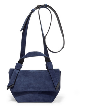 Musubi Milli Small Knotted Suede Shoulder Bag by Acne Studios