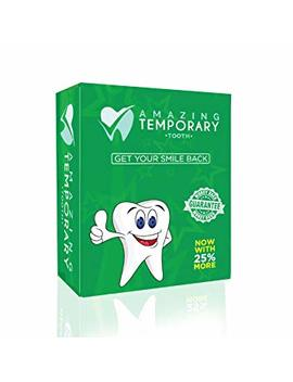 Amazing Temporary Missing Tooth Kit Complete Temp Dental Replacement Tooth Repair Kit Temp Makeover Now With 25 Percents More by Amazing Temporary Tooth