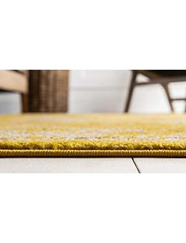 Unique Loom Penrose Collection Traditional Vintage Distressed Yellow Area Rug (5' X 8') by Unique Loom