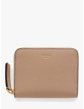 Mulberry Classic Grain Leather Small Zip Around Purse, Rosewater by Mulberry