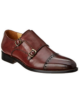 Warfield & Grand Sanders Leather Double Monk by Warfield & Grand