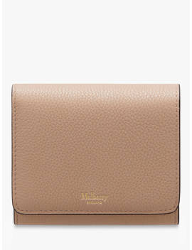 Mulberry Continental Classic Grain Leather Small French Purse, Rosewater by Mulberry