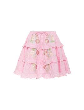Tiered Cotton Voile Mini Skirt by Innika Choo