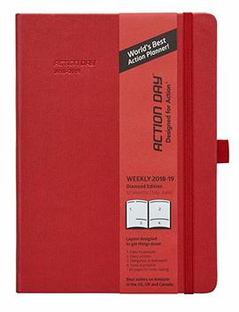 Clearance Sale   Action Day Academic Planner   Jul 2018   Jun 2019   #1 Time Management Planner & You Get Things Done   All Your Thoughts,Goals & Actions In One Place (7x9,Thread Bound,Red) by Action Day®