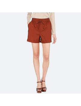 Women Linen Cotton Relaxed Shorts by Uniqlo