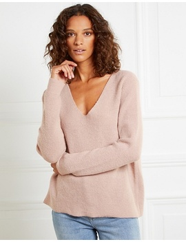 V Neck Fluffy Jumper by The White Company