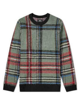 Stussy Plaid Mohair Sweat by End.