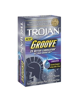 Trojan Groove Lubricated Condoms, Cmb Uti,10 Count Per Box (Pack Of 2) by Trojan