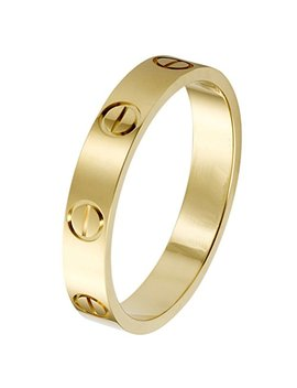 K.Klemm Women's 4mm Fashion Classics Titanium Steel Gold Ring   Eternal Love by K.Klemm