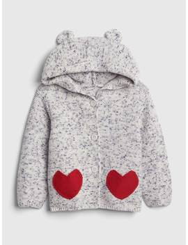Heart Garter Hoodie Sweater by Gap