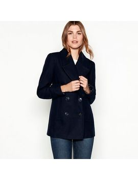 The Collection   Navy Double Breasted Peacoat by The Collection