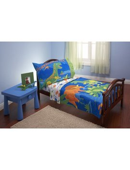 Everything Kids 4 Piece Toddler Bedding Set, Dinosaurs by Everything Kids