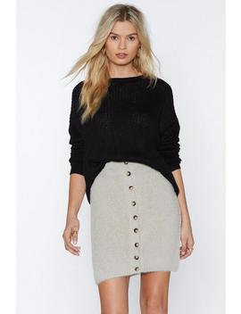 Softly Does It Button Skirt by Nasty Gal
