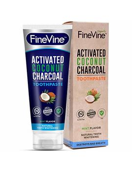 Charcoal Teeth Whitening Toothpaste   Made In Usa   Whitens Teeth Naturally And Removes Bad Breath   Best Natural Vegan... by Fine Vine