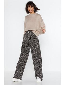 What's Dot Into You Wide Leg Pants by Nasty Gal