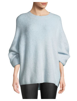 Oversized Funnel Neck Pullover Sweatshirt by Vince