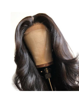 """24"""" Heat Resistant Hair Glue Less Lace Front Wig Straight Party Darkest Brown by Ebay Seller"""