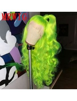 """24"""" Light Yellow Lace Front Wig Long Wavy Heat Resistant Hair Party by Ebay Seller"""